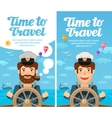 Travel to world Cruise vacation Sailor at the vector image vector image