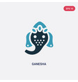 two color ganesha icon from religion concept vector image
