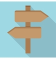 Two Wooden Arrow vector image vector image
