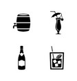 wine simple related icons vector image vector image
