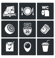 Work truckers Icon Set vector image vector image