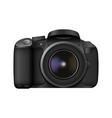 realistic photo camera professional photo studio vector image