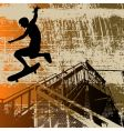 skateboy grunge vector image