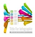 Infographic options with color arrow vector image