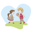 abstract cute valentines day card vector image vector image