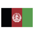 afghanistan flag on whte background vector image vector image