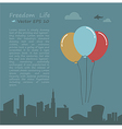 Balloon of Freedom life conception vector image vector image