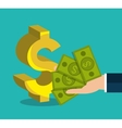 Bank and money investment vector image vector image