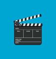 black film clapper board slate flat style vector image