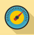Blue yellow dashboard icon flat style