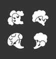 broccoli icon set simple style vector image vector image