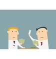 businessmen playing cards in office vector image vector image