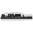 Cape Town city skyline silhouette vector image