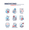 chemistry - modern line design style icons set vector image vector image