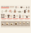 coffee infographic processes stages of coffee vector image vector image