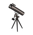 color sketch telescope vector image vector image