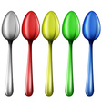 Colourful spoons vector image vector image