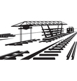 construction railway track vector image vector image