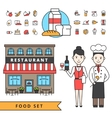 Coocking Design Concept Set vector image vector image