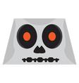 cute halloween cartoon skeleton avatar vector image