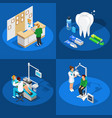 dentistry isometric design concept vector image vector image