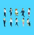 different business peoples standing and sitting in vector image vector image