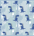 dino blue color boy seamless pattern vector image vector image