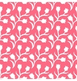 ditsy floral pattern with small white tulips vector image