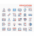 education flat icons set included icons as vector image