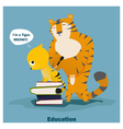 Education is superpower to success 3 vector image
