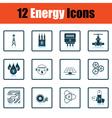 Energy icon set vector image vector image