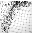 Exploded grid ball made of connected dots vector image vector image