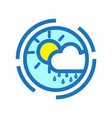 flat color rainy icon vector image vector image