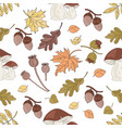 forest landscape nature seamless pattern il vector image vector image