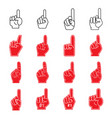 giant number 1 foam forefinger vector image