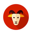 goat icon animal head vector image vector image