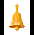 gold school bell retro christmas handlebell vector image vector image