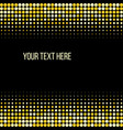 golden halftone pattern design vector image vector image