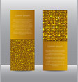golden sequins banners card brochure probe vector image vector image