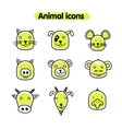 Hand drawn animal - icons vector image vector image