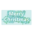 hand-drawn greeting card with the Christmas vector image
