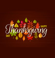 happy thanksgiving day greeting card design vector image vector image