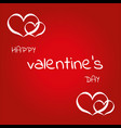 happy valentine day love heart design vector image vector image
