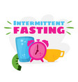 intermittent fasting losing weight vector image