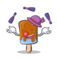 juggling ice cream character cartoon vector image vector image