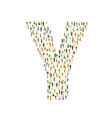 large group people in letter y form people vector image vector image