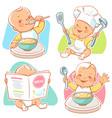 little baby breakfast vector image