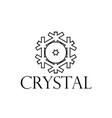 logo crystal snowflakes vector image vector image