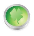 lucky button vector image