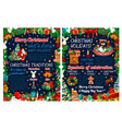 Merry christmas holiday greeting poster